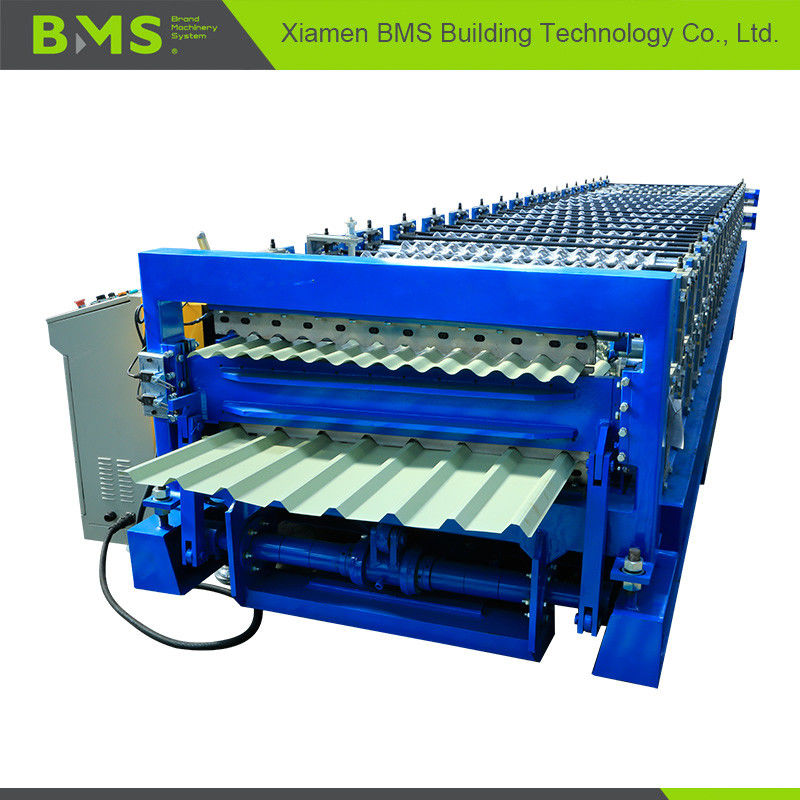 Dual Layer Roofing Sheet Roll Forming Machine More Convenient ISO9001/CE