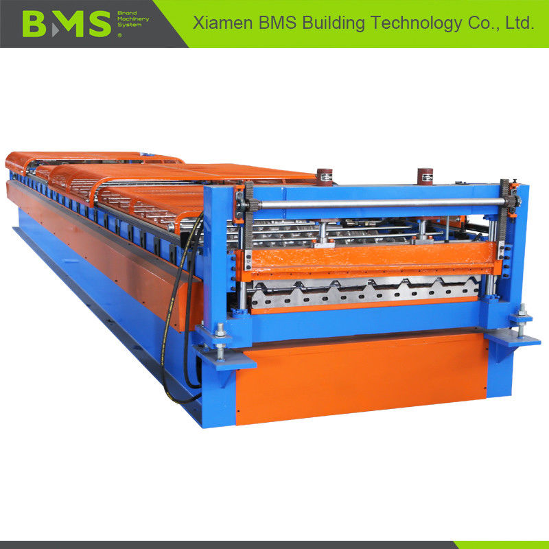 Metal Roof Panel Roll Forming Machine , Roof Panel Making Machine 12-15m/min