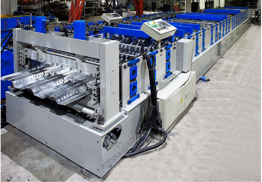 Metal Deck Roll Forming Machine , Floor Tiles Manufacturing Machines Fully Auto