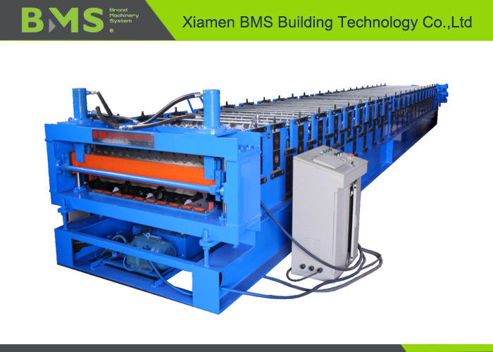 Roof And Corrugated Panel Double Layer Roll Forming Machine For 1219mm Width