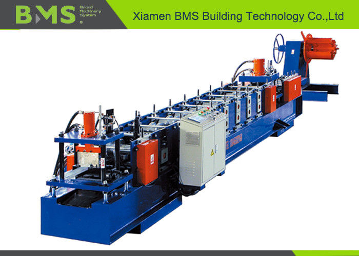 Customize Size Change Cold Rolled Sheet C Purlin Forming Machine With Hydraulic Uncoiler