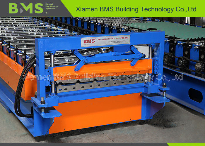0.3-0.8 Color Steel Sheet Metal Roof Roll Forming Machine with 5T Manual Decoiler